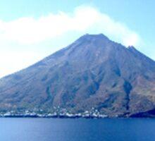 VOLCANO, Volcanic, Active Volcano, Stromboli, Eruption, Italy, from the sea Sticker