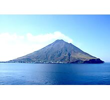 VOLCANO, Volcanic, Active Volcano, Stromboli, Eruption, Italy, from the sea Photographic Print