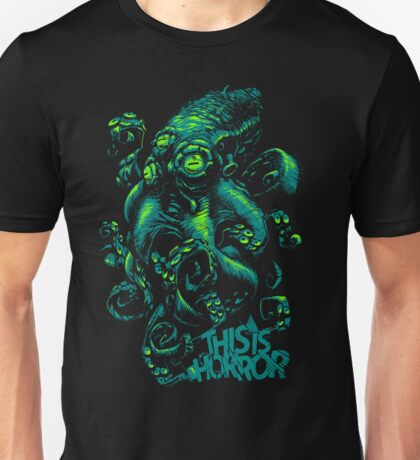 This Is Horror Green on Black OctoTerror T-Shirt