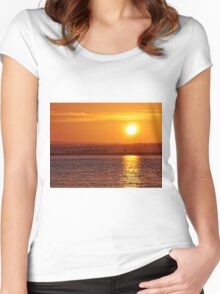 Misty Sunrise over Moray Firth Women's Fitted Scoop T-Shirt