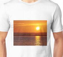 Misty Sunrise over Moray Firth Unisex T-Shirt