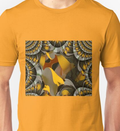 Twisted Yellow Sculpture Fractal Unisex T-Shirt