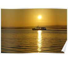 Cruise at sunrise on ther Moray Firth Poster