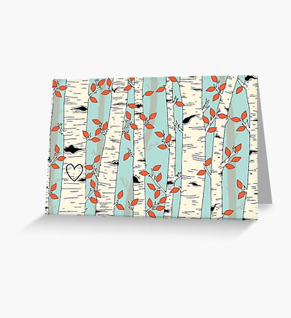 In the Birch Trees Greeting Card