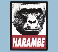 Harambe the gorilla.  Kids Tee