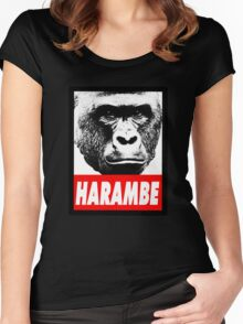 Harambe the gorilla.  Women's Fitted Scoop T-Shirt