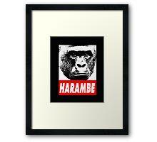 Harambe the gorilla.  Framed Print