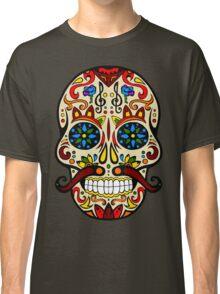Mustache Skull Classic T-Shirt