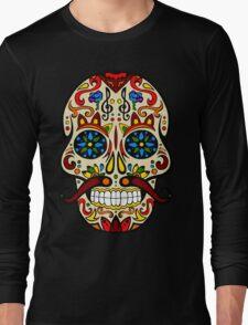 Mustache Skull Long Sleeve T-Shirt