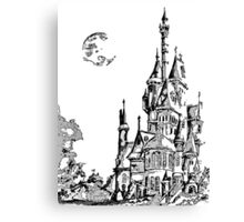 Watercolor Castle Canvas Print