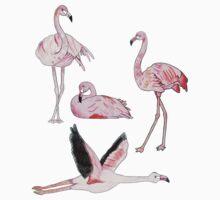 Flamingos Forever One Piece - Short Sleeve
