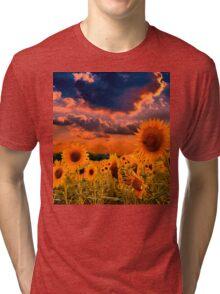Sunflowers Field  Tri-blend T-Shirt