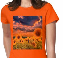 Sunflowers Field  Womens Fitted T-Shirt