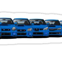 Subaru WRX STi generations - V1 Sticker