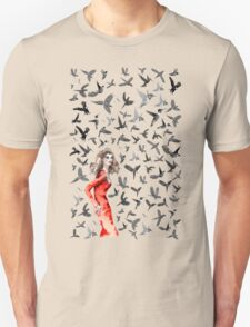 Barcelona Summer Bird Lady  Unisex T-Shirt