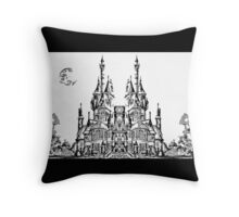 Mirrored Castle Throw Pillow