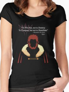 Iskandar Quotes White Print Women's Fitted Scoop T-Shirt