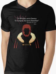 Iskandar Quotes White Print Mens V-Neck T-Shirt