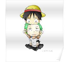 Luffy and zoro  Poster