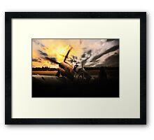 Spitfire Sunset Silhouette Framed Print