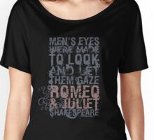 Romeo & Juliet Men Quote (Grey & Pink) Women's Relaxed Fit T-Shirt