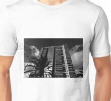 Tower Block in Black and White Unisex T-Shirt