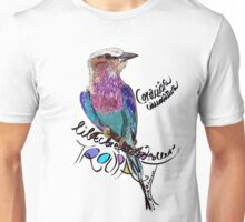 Lilac-breasted Roller, Troupant Unisex T-Shirt