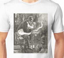 Victorian fireman rescuing a child Unisex T-Shirt
