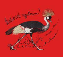 Grey Crowned Crane, Mahem Kids Tee