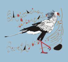 Secretarybird, Sagittarius serpentarius  Kids Tee