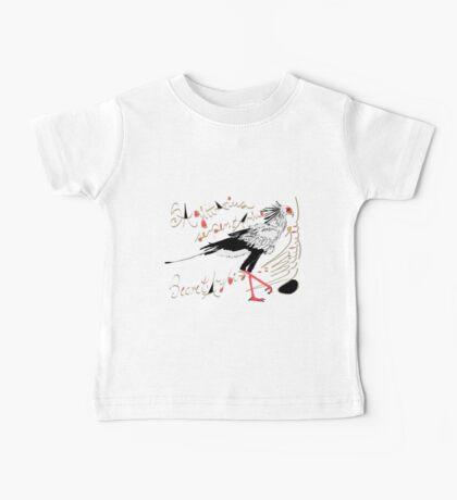Secretarybird, Sagittarius serpentarius  Baby Tee