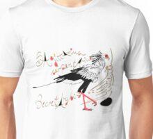 Secretarybird, Sagittarius serpentarius  Unisex T-Shirt