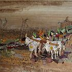 Bullock Cart in city by BasantSoni