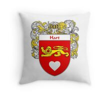 Hart Coat of Arms/Family Crest Throw Pillow