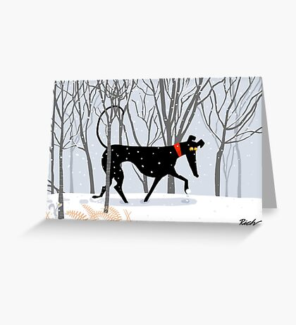 Winter Hound  Greeting Card