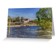 Hambleden Mill And Weir On The Thames Greeting Card