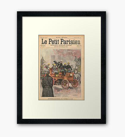 Electric Fire Engine Paris France 1900 Framed Print