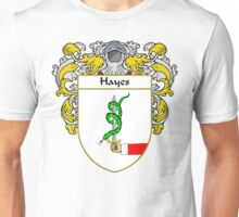 Hayes Coat of Arms/Family Crest Unisex T-Shirt