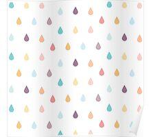colorful rain Poster
