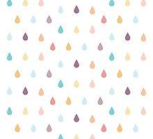 colorful rain Photographic Print