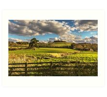Round Hill From Little Wittenham Art Print