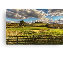 Round Hill From Little Wittenham Canvas Print