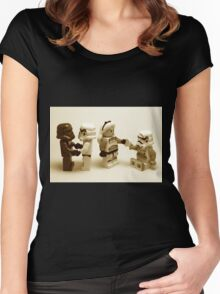 Lego Star Wars Stormtroopers Diversity Minifigure Women's Fitted Scoop T-Shirt