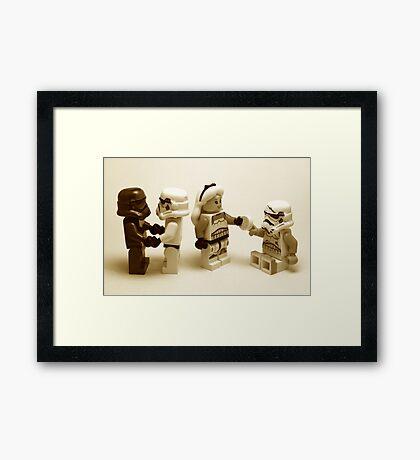 Lego Star Wars Stormtroopers Diversity Minifigure Framed Print