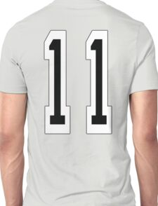 11, TEAM SPORTS NUMBER 11, Eleven, Eleventh, Competition Unisex T-Shirt