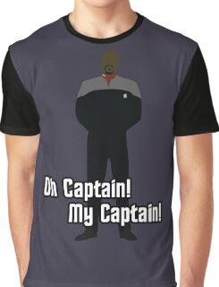 Oh Captain! My Captain! - Ben Sisko - Star Trek Graphic T-Shirt