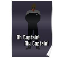 Oh Captain! My Captain! - Ben Sisko - Star Trek Poster