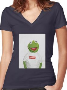 Kermit Women's Fitted V-Neck T-Shirt
