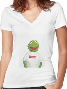 Kermit Women's Fitted V-Neck T-Shirt