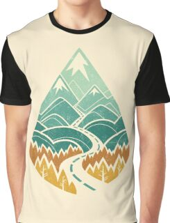 The Road Goes Ever On: Autumn Graphic T-Shirt